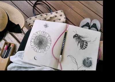 botanical artist stketchbook stephey baker