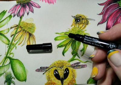 bumble bee drawing