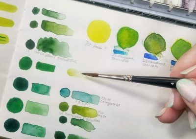 color mixing for watercolor