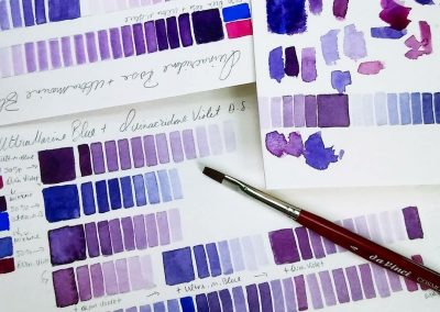 color mixing for watercolor painting
